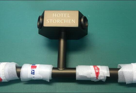 hotel storchen zürich beschriftung riesen printmedia