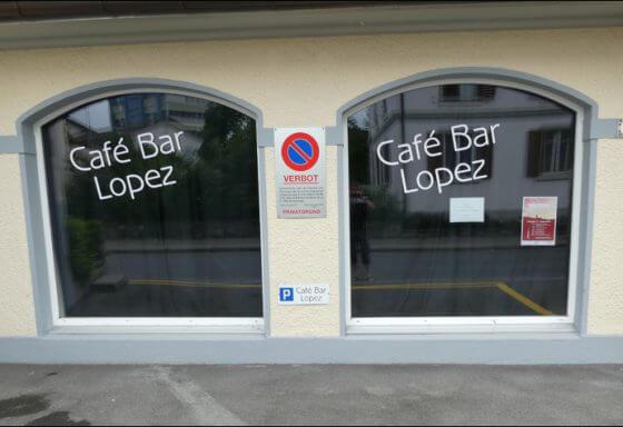 Café Bar Lopez - Beschriftung - RIESEN PRINTMEDIA - Adliswil